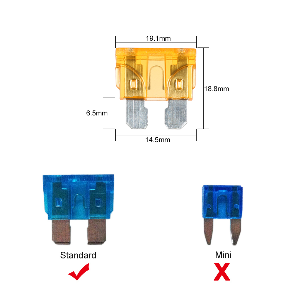 8 Way Blade Fuse Box Holder Blocks Led Indicator 10pcs Fuses Connector Terminals For Car Boat Marine Caravan Truck In From 1 10 Connecting Terminal 4 Screws Decal