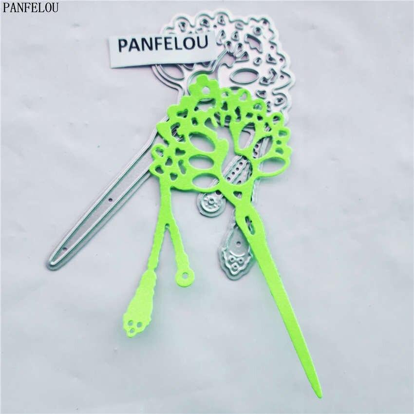 PANFELOU The More hair lady paper die cutting dies metal craft Scrapbooking/DIY Christmas wedding Embossing mould cards