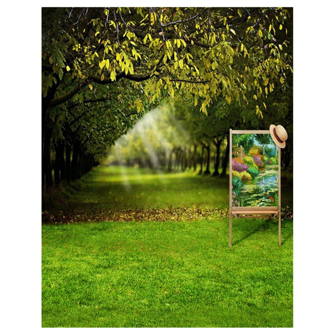 3x5ft Green Trees Forest Field Garden Nature Scenery Graphic Printed Wall Mural Vinyl Cloth Photography Backgrounds Picture 31 flame trees of thika