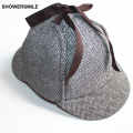Sherlock Holmes Detective Hat Unisex Cosplay Accessories Men Women Child Two Brims Baseball Cap Earflaps Herringbone Deerstalker