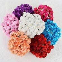 144 шт./лот Мини искусственные почки роз поддельные цветы Букет DIY ВЕНОК Свадебные украшения новогоднее; рождественское 2017 вечеринок