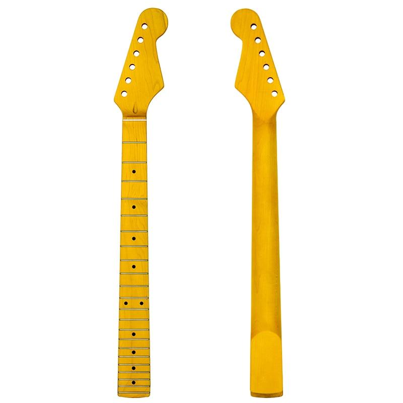 Arce guitarra cuello abulón punto 22 trastes guitarra eléctrica cuello de arce diapasón de la guitarra eléctrica