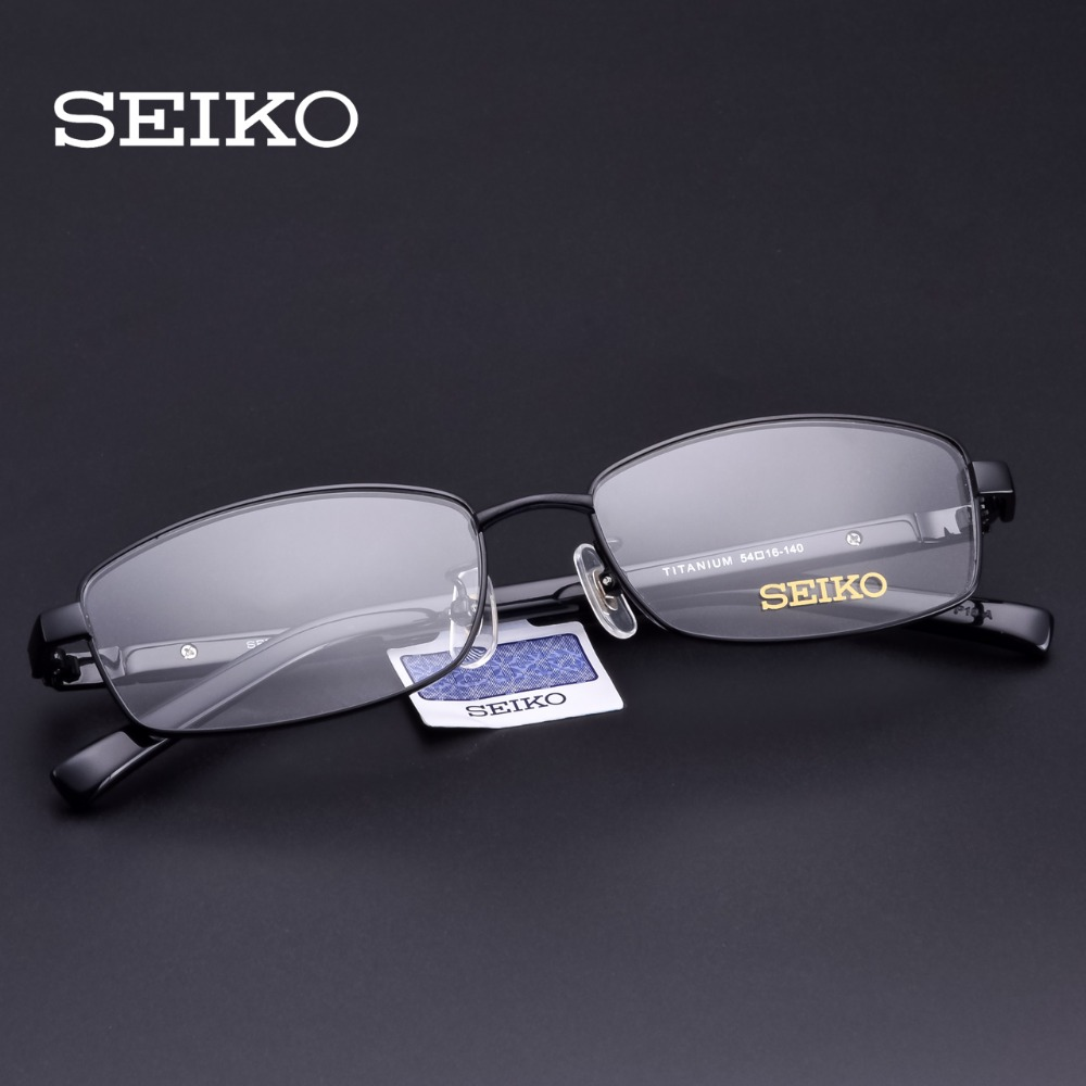 SEIKO Prescription Glasses Men Titanium Dioptric Eye Glasses Optical Frames Lenses with Diopters Men Eyeglasses Myopic