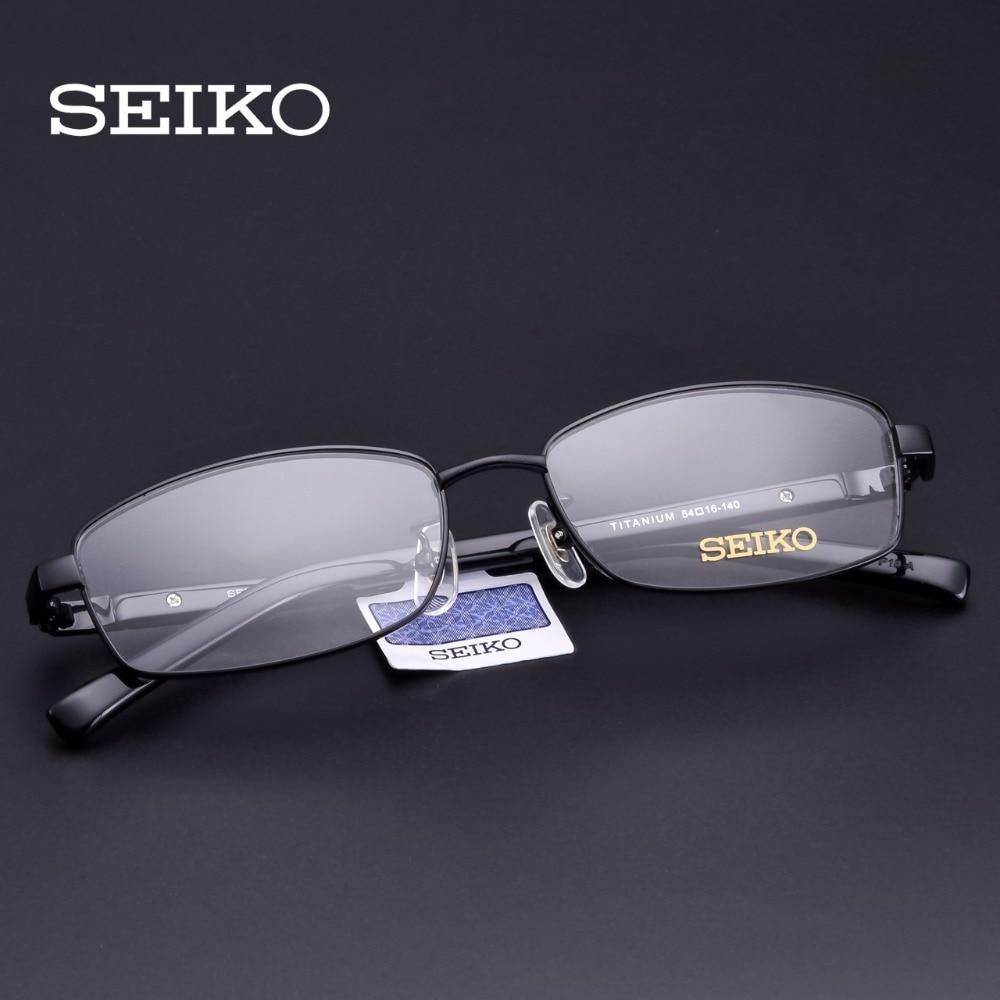 SEIKO Prescription Glasses Men Titanium Dioptric Eye Glasses Optical Frames Lenses with Diopters Men Eyeglasses Myopic