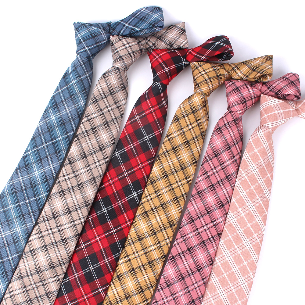 Red Plaid Ties For Men Skinny Men Neck Tie For Wedding Business Casual Check Neckties Classic Suits Slim Neck Ties Gravatas