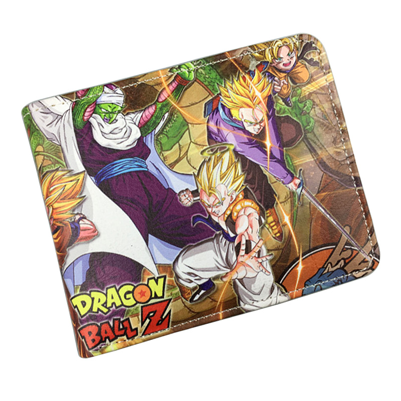 Fashion Men Purse Dragon Ball Z Wallets Cartoon Anime Hero Card Holder Money Bags PU Leather Students Birthday Gift Short Wallet anime iron maiden printed wallets pu leather short purse carteira gift teenager men women bags casual fashion wallet