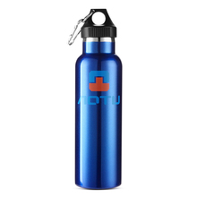 600ml Sports Water Bottle Double Wall Insulated Stainless Steel with Cleaning Brush Kit Camping Accessories