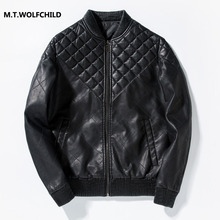 Hot sale 2017 new  mens brand PU zipper Motorcycle jackets casual mens clothing coats Fashion Korean style men's Thicker jacket