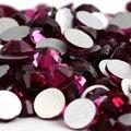 Cor Fúcsia 1440 pcs Strass Hotfix não SS20 4.6mm 20ss cristal Prego flatback Art Pedrinhas