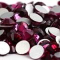 SS20 Fuchsia color 1440pcs Non Hotfix Rhinestones 4.6mm 20ss crystal flatback Nail Art Rhinestones