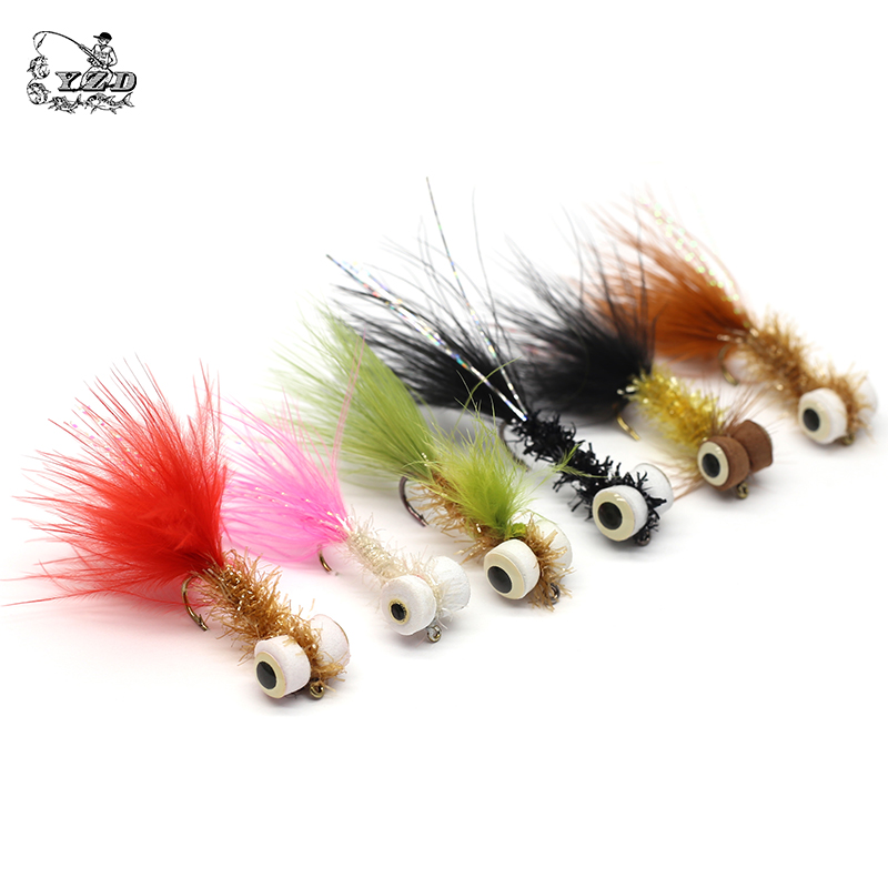 Image 2 - Wet Dry Nymph Fly Fishing Flies Set Fly Lure Kit Boobies Egg Flies for Big Rainbows Brown Trout Salmon Bait Fly Tying Flyfishing-in Fishing Lures from Sports & Entertainment
