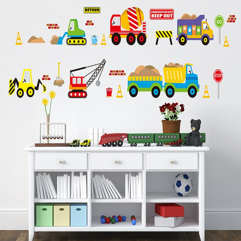 Tractor Wall Sticker Vehicle Wall Art | iltribuno.com