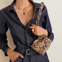 bac892c41f Serpentine Alligator taille sacs femmes petit PU cuir Fanny Packs sacs  téléphone marques ceinture Sac poitrine