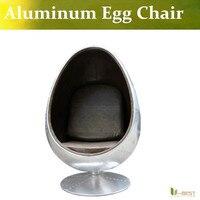 U BEST Leisure Arne Jacobsen Egg Chair In Red Wool Aluminum Egg Pod Chair For The