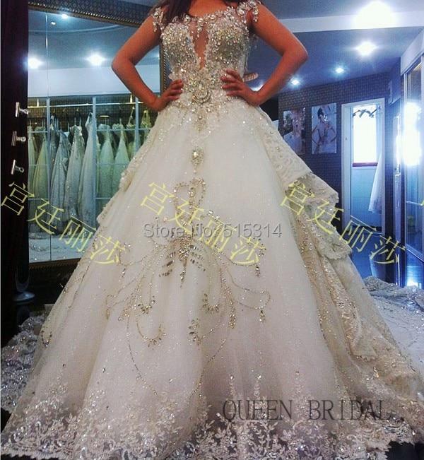 Bruidsjurk met diamanten