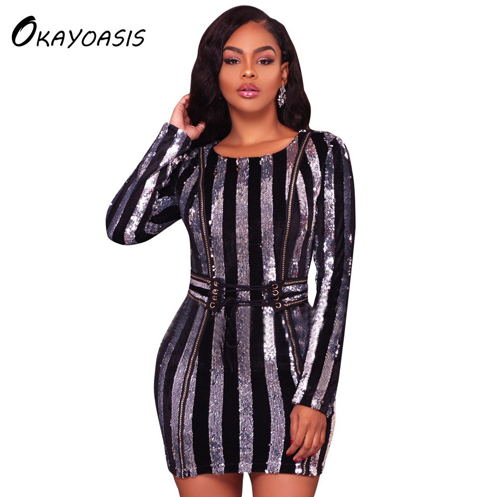 Okayoasis Wholesale Long Sleeve Above Knee Fitted Lady -4296
