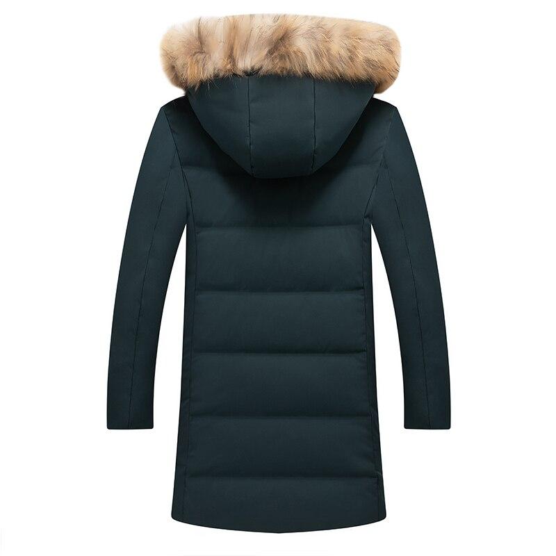 Mode Zipper De À Veste Canard Capuche Casual Revers Manteau Neige Haute Amovible Qualité Down vert Noir Blanc Chaud Long Duvet Hommes a5wqtda