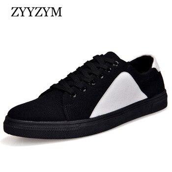 ZYYZYM hommes chaussures printemps et automne à lacets Style respirant mode tendance jeunesse toile étudiants hommes vulcaniser chaussures