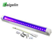 все цены на Aluminum + PC 395NM 5W Ultraviolet Germicidal Light Single Row 24 LED UV Disinfection Lamp Home Sterilization Lamp AC85--260V онлайн