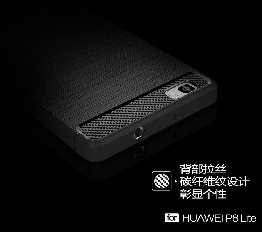 Untuk Huawei P8 Lite Kasus Silikon Lembut Kasus Ponsel Perlindungan - Aksesori dan suku cadang ponsel - Foto 5