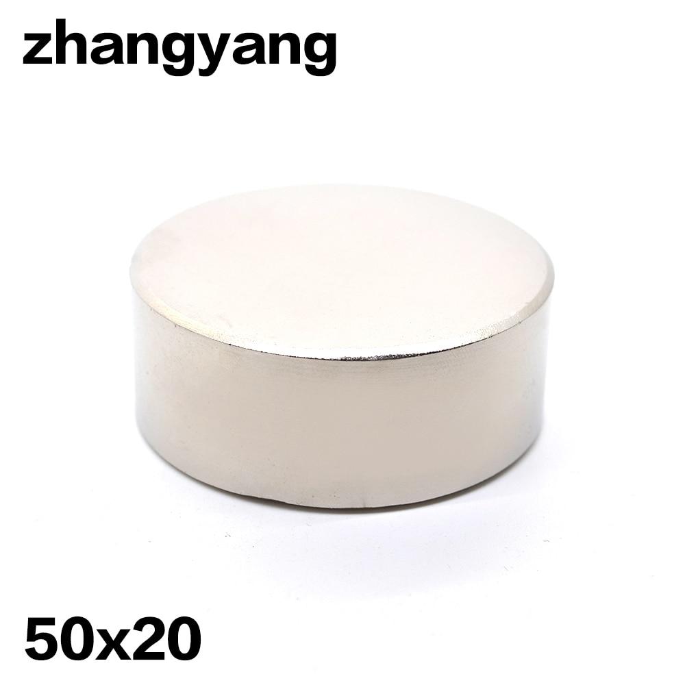 1 pz N52 magnete Al Neodimio 50x20mm gallio metallo super strong rotonda magnet 50*20 Neodimio magneti
