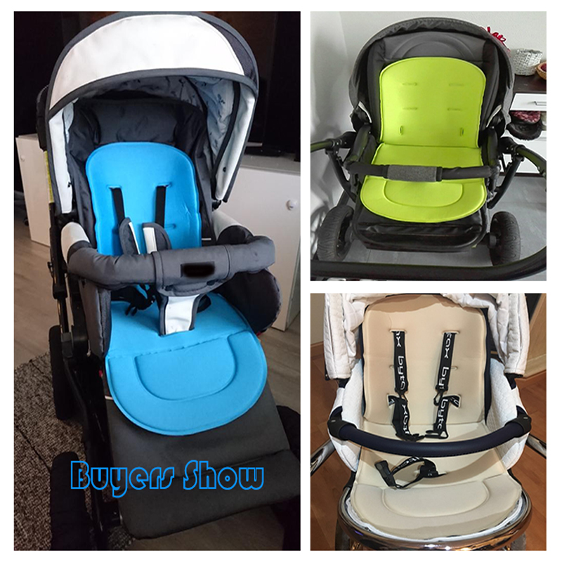 Newborn Baby Stroller Padding Pushchair Car Auto Seat Cushion Breathable Cotton Infant Pram Liner Pad Toddler Soft Cart Seat Mat