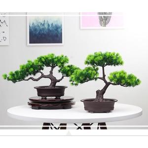 Image 4 - סימולציה אורחי ברכה האורן בונסאי искусственная ельTree מלאכותי צמח הסדר מקורה סלון שולחן דקור