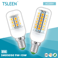 TSLEEN E14 type Led Bulb Light 9w/11w/12w/13w/15w low heating 5050 SMD 30/36/48/59/69 leds Cool/Warm white AC 220V for Home Shop