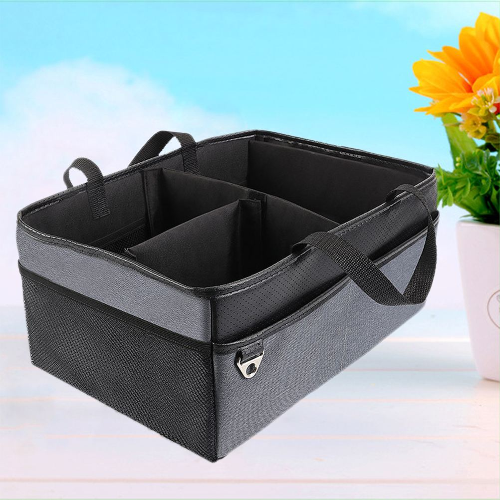 Baby Diaper Caddy Nursery Storage Box Collapsible Diaper Stacker ...