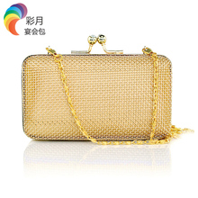 New 2017 Hollow Out Women Wedding Bag Fashion Gold Evening Bags Wedding Party Purse Bride Clutches Chains Handbags Purse