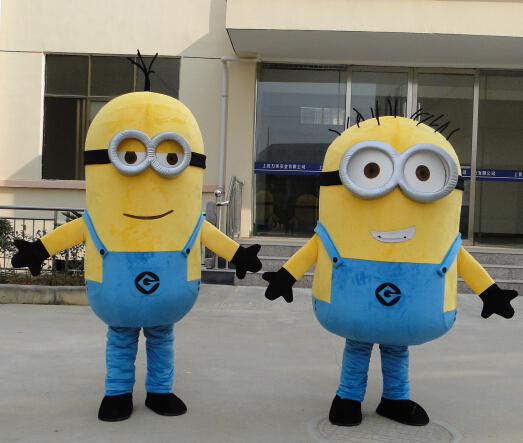 high quality minion mascot costume for adults mascot costume EPE material free shipping