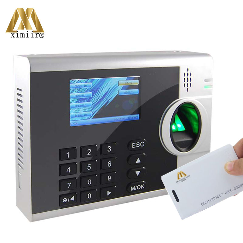 XM218 Fingerprint Recognition Device Fingerprint Time Attendance With ID Card Reader External Printer Function By RS232