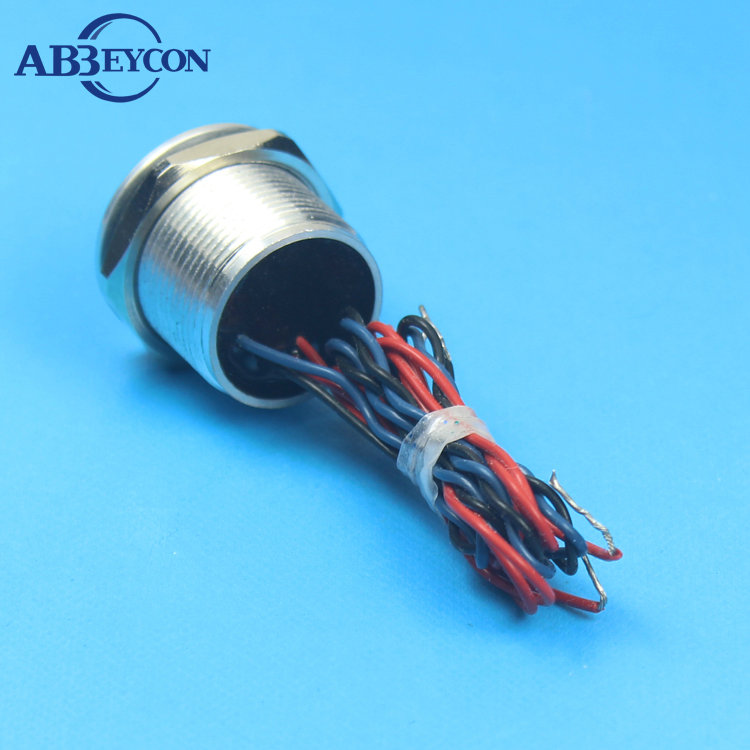 Abbeycon 0.2A 24VAC/DC Red Green LED Illuminated light Dot 22mm Latching 12V/24V Electrical Finger Touch Piezo Switch