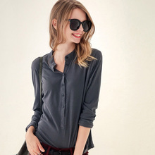polos women solid plain tops polo femme Long Sleeve Women Polo Shirt womens polos shirts cotton korean women poloshirt