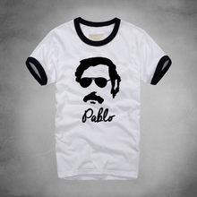 8e4728da4 1 Pablo Impresso T-shirt Dos Homens À Moda do Pablo Escobar Pablo Picasso  Drogas Weed Personagem do Filme de Máfia Colombiana Ca.