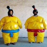 Два комплекта сумо одежда ПВХ ткань сетка красный и синий два набора взрослых и детей сумо одежды детские игры на свежем воздухе сумо спорти