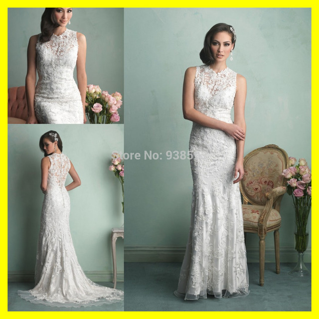 Short Casual Wedding Dresses Satin Second Dress Beachy Bohemian Sheath Floor Length Sweep/Brush Train Appliques H 2015 Wholesale-in Wedding Dresses ...