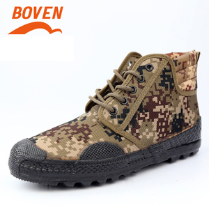 Image 4 - Military Camouflage Wear resistant Rubber Shoes Worker Farmland Garden Industrial Boots Non Slip Mountain Climbing Man