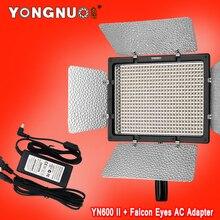 Yongnuo YN600 II YN600L II 5500 K LED Vidéo Lumière + Falcon yeux AC Adaptateur Ensemble Soutien Télécommande par Téléphone App pour entrevue