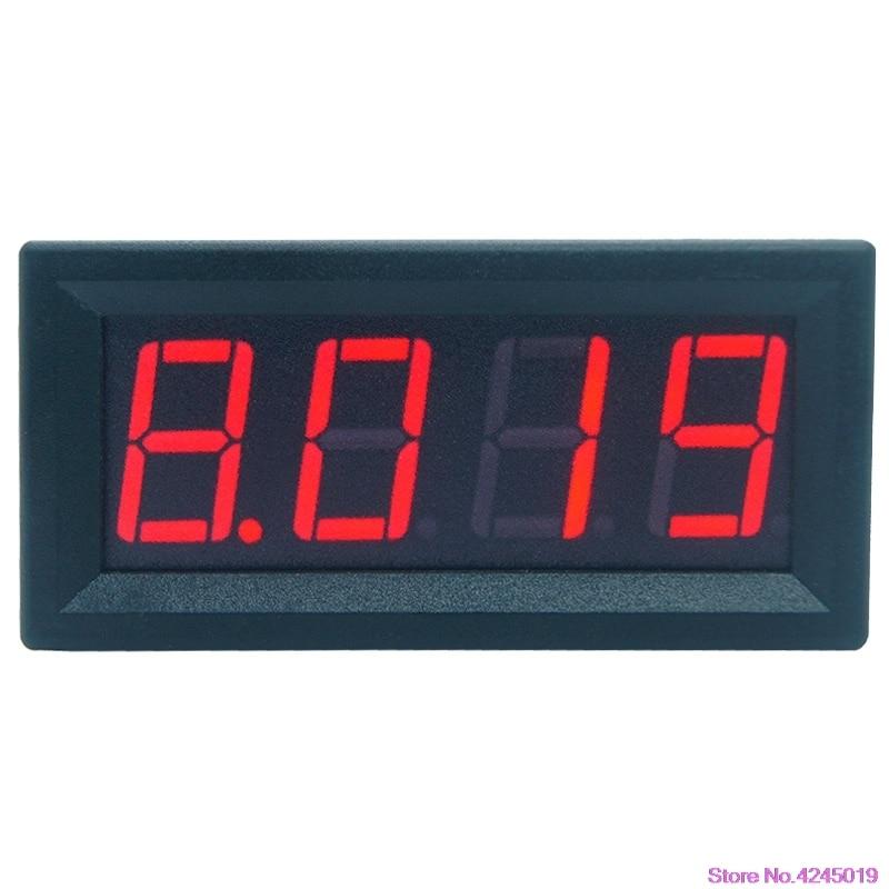 0-9.999A(10A) 4-digits bit Ammeter Current Panel Meter Gauge 0.56inch Red LED