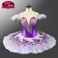 2017 New Arrival Adult Purple Professional Tutu Classical Ballet Girls Stage Ballerina Costume Dancewear LD0049