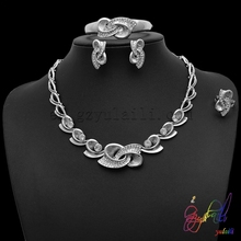 Yulaili Free Shipping Fashion Model High Quality Zinc Alloy Gold Plating Women Four Jewelry Sets