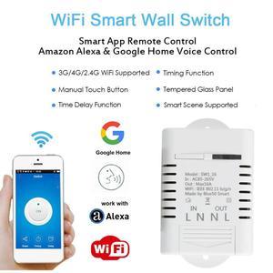 WiFi Умный домашний переключатель работает с Amazon Alexa Google Home таймерные графики умная сцена 16A 3520 Вт приложение дистанционное управление DS35
