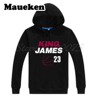 Men Hoodies MVP LeBron James 23 LBJ Kings Champions Cleveland Sweatshirts Hooded Thick for fans gift Autumn Winter W17112615