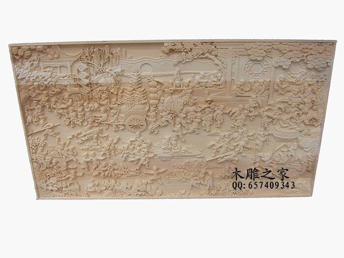 Dongyang sculpture sur bois antique personnalisé 100 27.409 figure croix écran TV fond mur partition porche décoration plaque