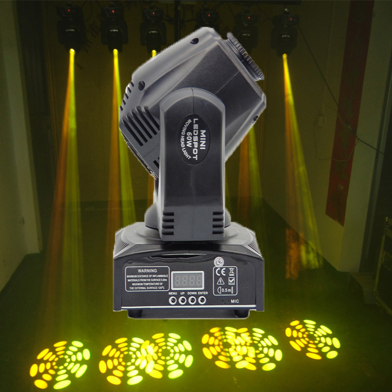 Best Quality 2Pcs/Lot 60W LED Moving Head Spot Light Moving Head Beam DMX512 China moving head 60w manufacturer 1 pieces lot high quality 60w led moving head spot light led moving head beam dj equipment dmx512 china 60w gobo moving heads