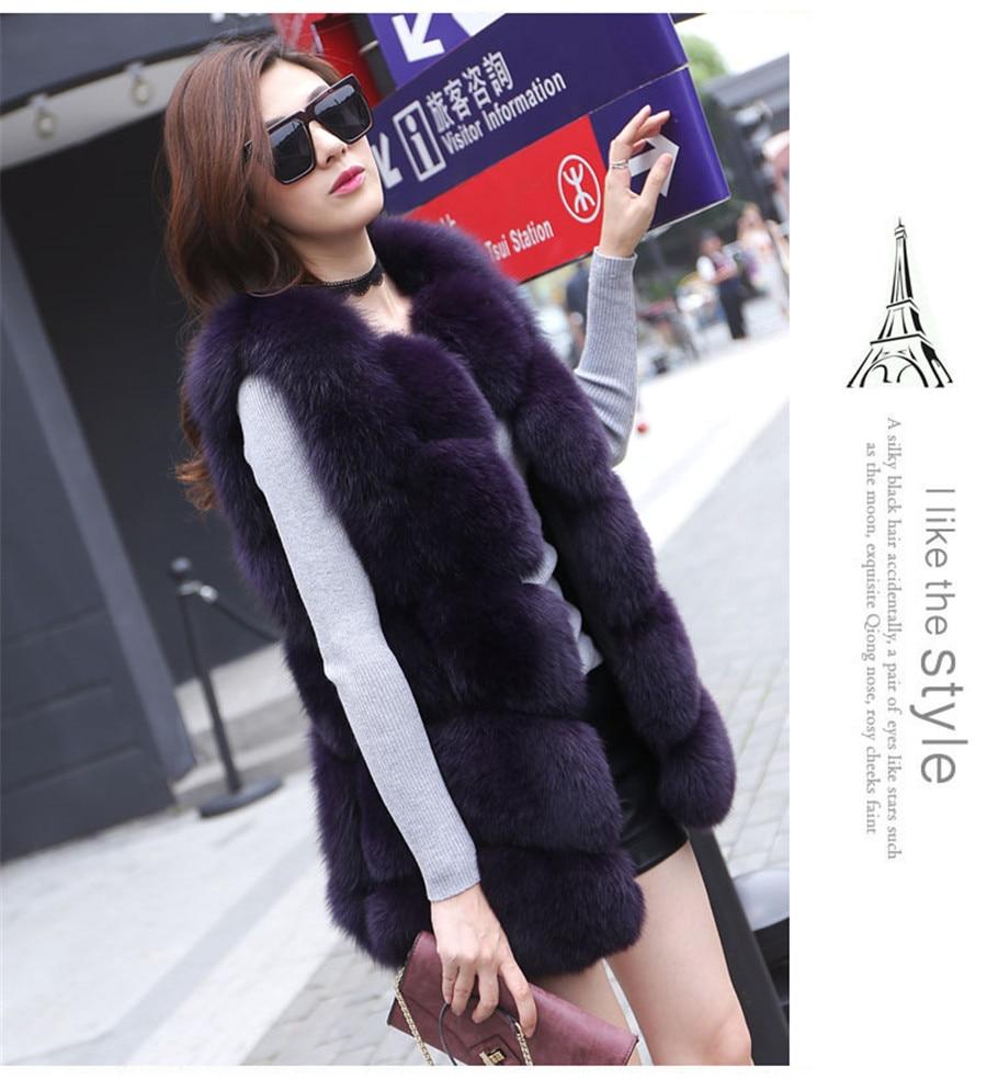 Sıcak Satış Orijinal Gerçek Fox Kürk kadın Kış Sıcak - Bayan Giyimi - Fotoğraf 5