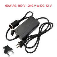 60 W AC 100 V-240 V 100 V 220 V à DC 12 V voiture allume-cigare AC/DC convertisseur de puissance adaptateur onduleur DC alimentation transformateur