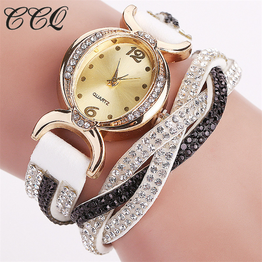 New Fashion Luxury Bracelet Quartz Watches Casual Women Rhinestone Wristwatches Relogio Feminino font b Reloj b