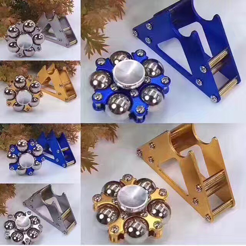 New 100Pcs/Lot Zinc alloy Titanium Ferris wheel finger gyro Anti Stress For Adults Children Autism ADHD Funny EDC Hand Spinner fidget hand spinner brass metal edc finger spinner anti stress hand spinner for autism adhd toys gift spinning top